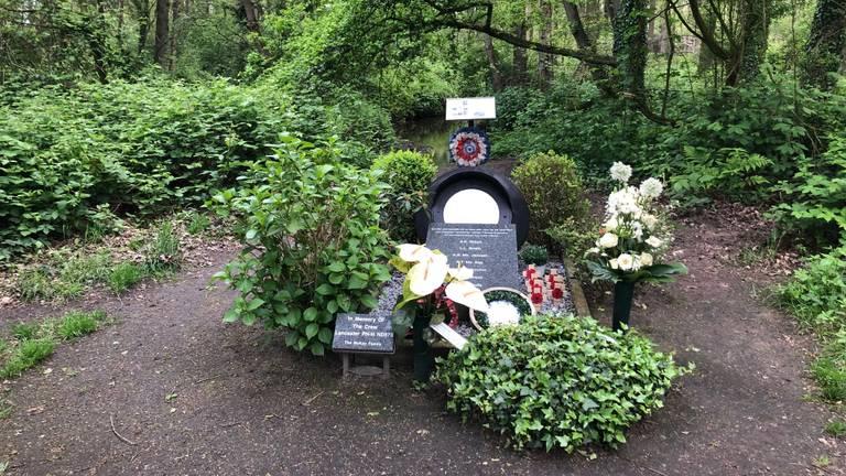 Monument in De Peel voor bemanningsleden van een Lancaster.
