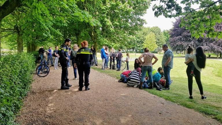 Er was een vechtpartij tussen twee scholieren van het 2College Durendael in Oisterwijk (Foto: Toby de Kort).