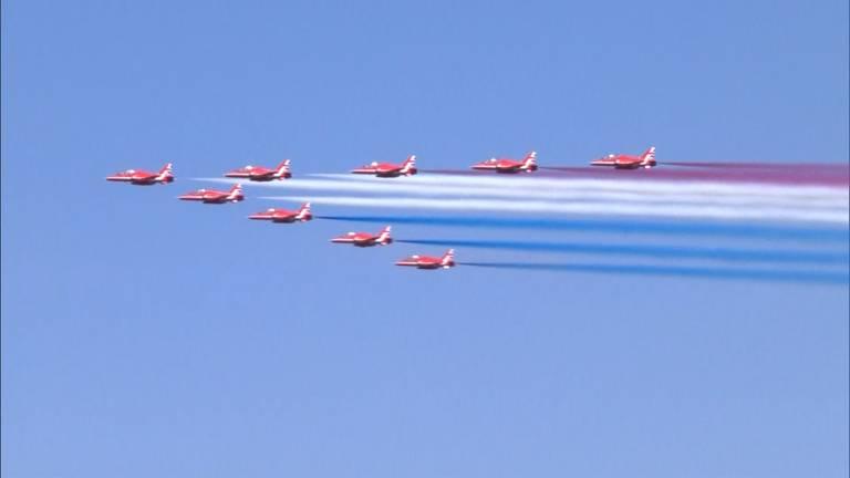 De Red Arrows. Foto: Omroep Brabant
