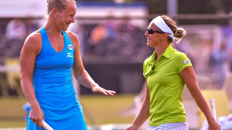 Kiki Bertens en Kirsten Flipkens op Libéma Open in 2018