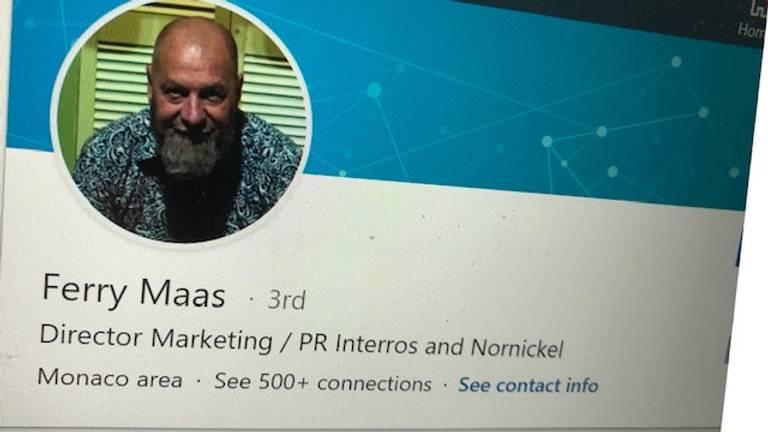 Op de LinkedIn-pagina van Ferry Maes wordt verwezen naar het Russische Interros.