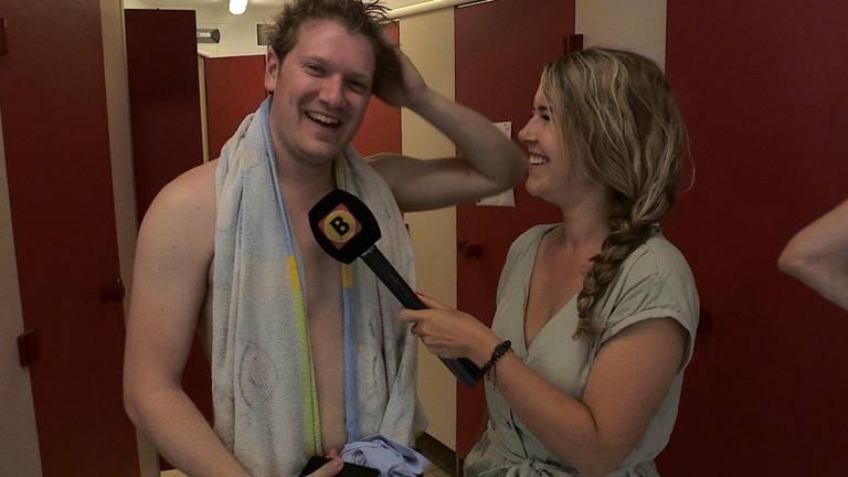 Max uit Oosterhout kon wel een frisse douche gebruiken.
