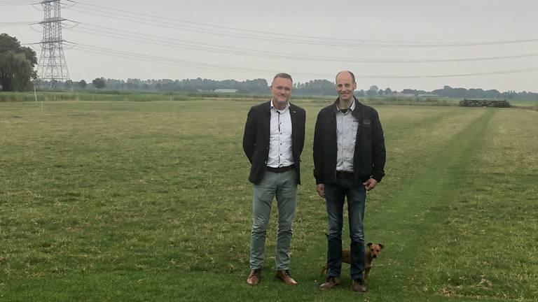 Eric Emmen en Koenraad van Eersel van de Bewonersgroep 's-Gravenmoer