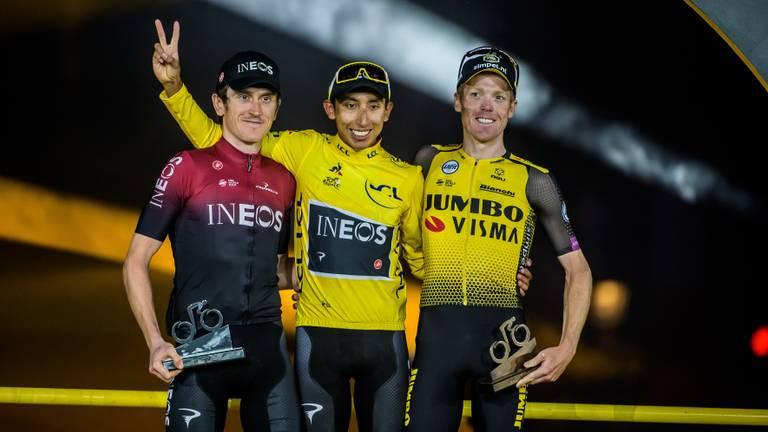 Tourwinnaar Bernal en Kruijswijk starten woensdag in Chaam (Foto: ANP)