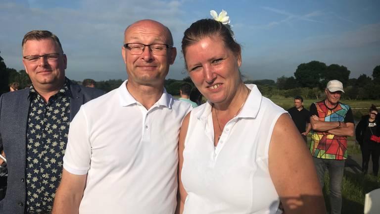 Paul en Linda trouwden tijdens de slotdag van de Vierdaagse. (Foto: Anja de Loos)
