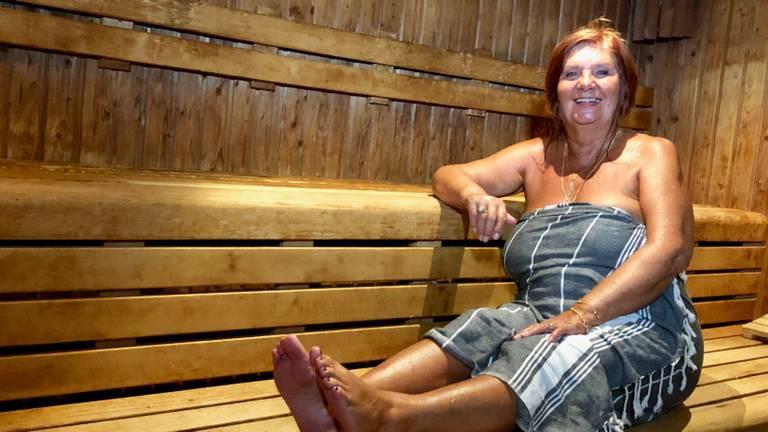 Lekker 80 graden in de sauna.