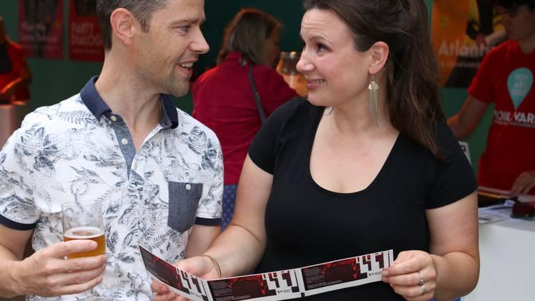 Emile en Marleen Lommers gingen mee naar Het Nationale Lied van 'Wunderbaum'.