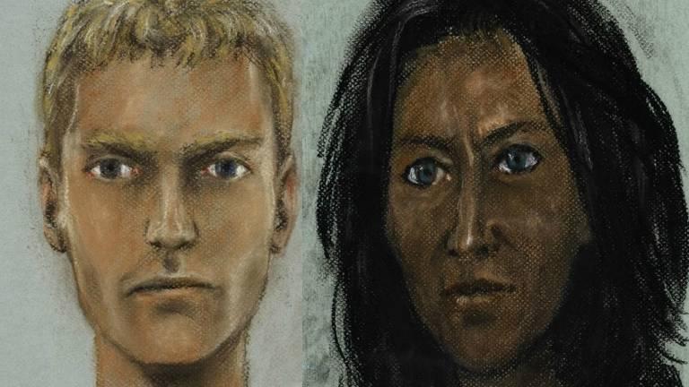 De politie is op zoek naar de man en vrouw op de compositietekening. (Foto: Politie)