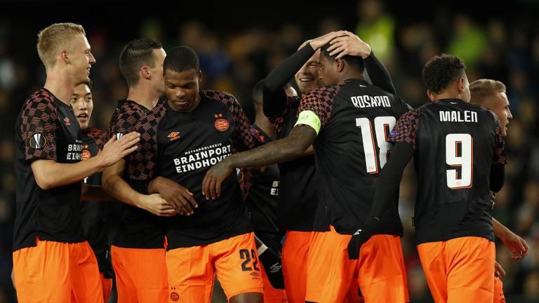 PSV kwam op voorsprong door Pablo Rosario (foto: Hollandse Hoogte).