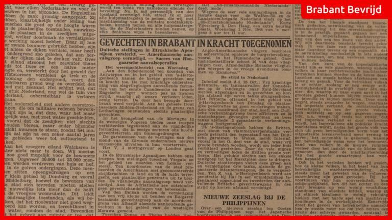 De krant van 26 oktober 1944.
