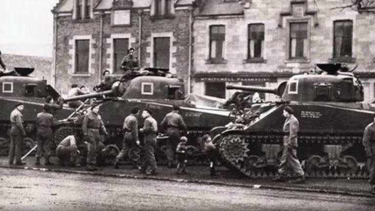 De Poolse pantserdivisie van generaal Maczek.