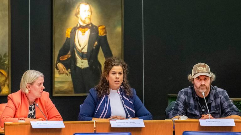 Annemarie de Ceuster van het Brabants Agrarisch Jongeren Kontakt mocht ook inspreken. (Foto: ANP)