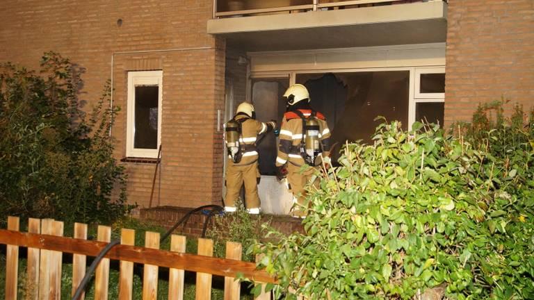 De brandweer was snel aanwezig bij de brand in Drunen. (Foto: FPMB)