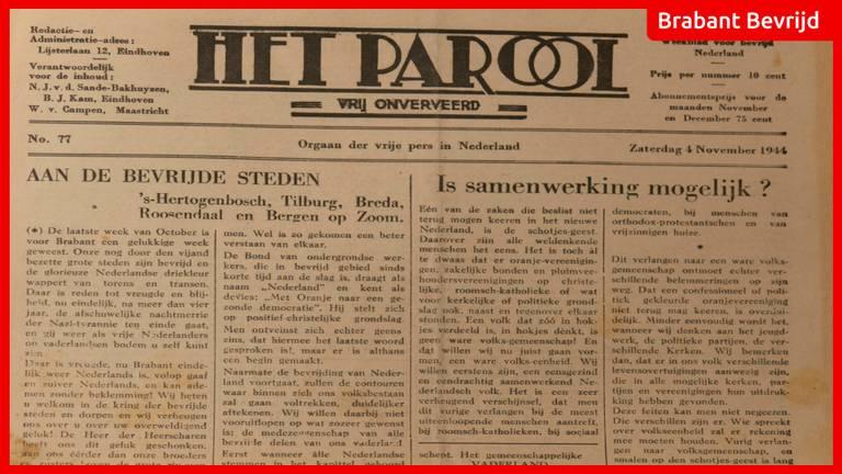 De krant van 4 november 1944.