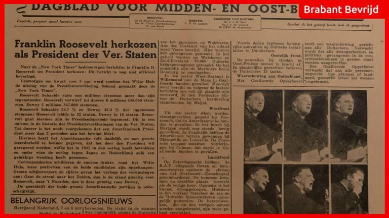 De krant van 8 november 1944.