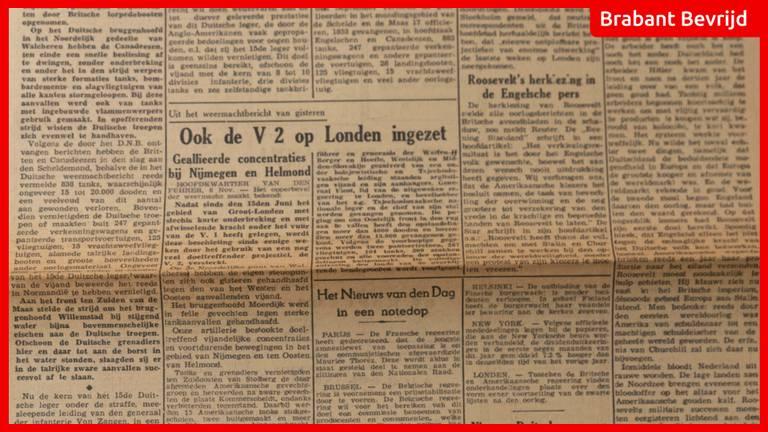 De krant van 9 november 1944.