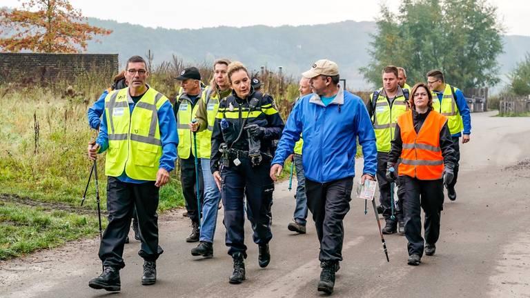 Ook het Veteranen Search Team zocht mee naar Sacco (foto: SQ Vision).