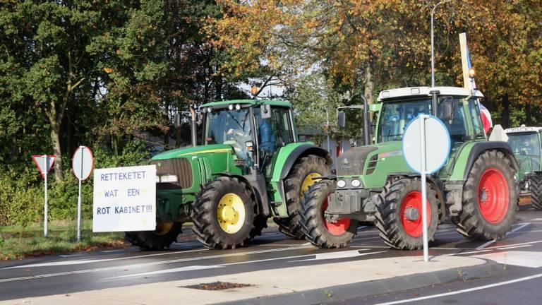 Archieffoto: Boeren uit Schaijk op weg naar het provinciehuis. (Foto: Marco van den Broek)