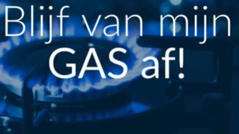 Duidelijke taal op de website die waarschuwt voor de kosten om een huis van het aardgas te krijgen.