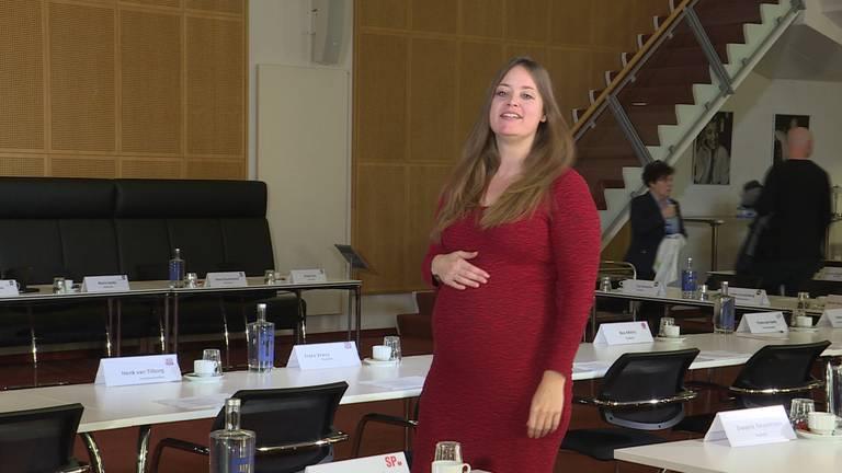 De hoogzwangere Linda Oerlemans.
