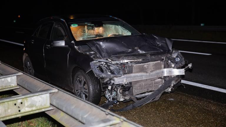 Een van de beschadigde auto's. (Foto: Christian Traets / SQ Vision Mediaprodukties)