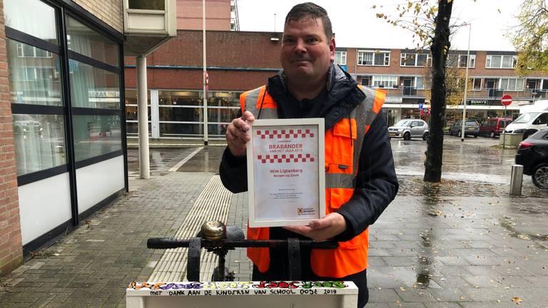 Wim deelt gratis soep uit aan daklozen in Bergen op Zoom (foto: Imke van de Laar)