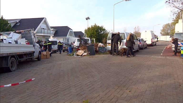 Het woonwagenkamp in Lith.
