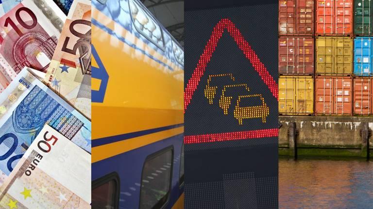 Minder files, minder lang wachten op de trein en minder vrachtwagens.