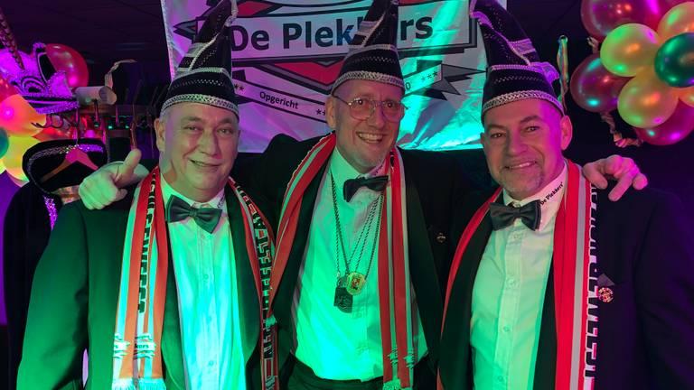 Vlnr: John Hoebergen, Henri Diekman (stagebegeleider) en Marco Douven