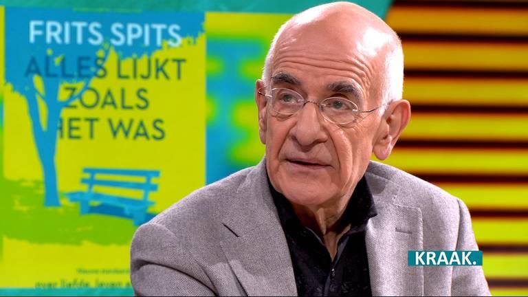 Frits Spits over zijn overleden vrouw Greetje in het programma KRAAK. (Foto: omroep Brabant)
