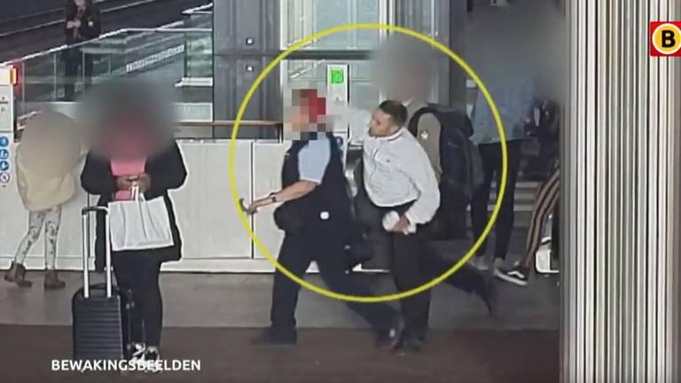 Conductrice bewusteloos geslagen (foto: Bureau Brabant).