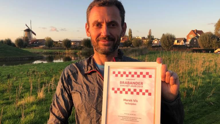 Marek Vis rende vijf marathons in anderhalve dag voor een goed doel (Foto: Imke van de Laar)