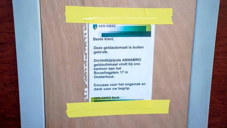 Een pinautomaat in Oosterhout ging eerder al helemaal dicht in de strijd tegen plofkrakers. (Foto: Marcel van Dorst / SQ Vision Mediaprodukties)