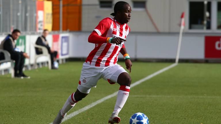 PSV'er Sekou Sidibe in actie. (Foto: Hollandse Hoogte)