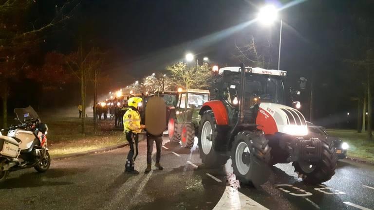 De politie haalde 16 boeren van de weg en gaf ze een boete. (Foto: Politie Oost-Brabant)