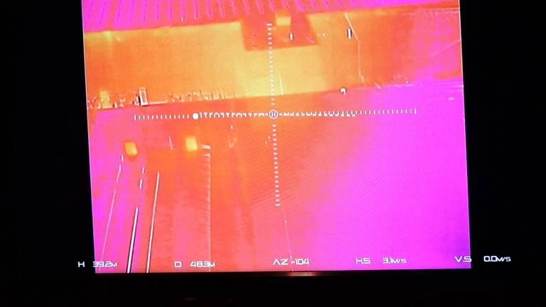 Warmtebeelden van de drone (foto: FPMB Erik Haverhals)