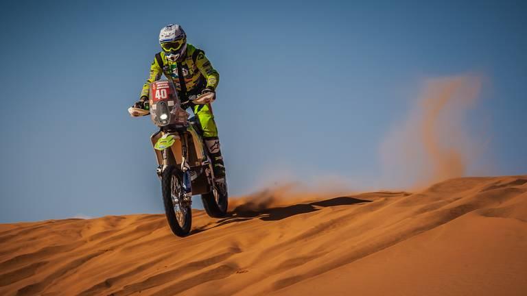 Edwin Straver in actie tijdens de Dakar Rally. (Foto: Robin Verheggen)