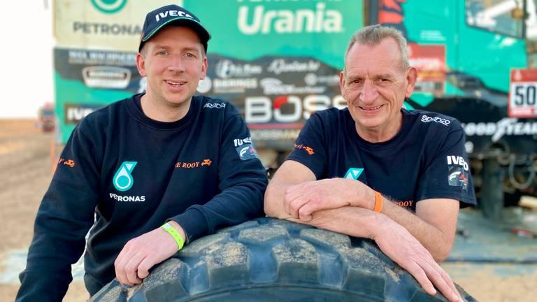 Janus en Janus tijdens de Dakar Rally in Saoedi-Arabië.