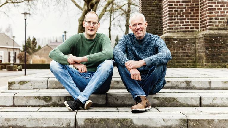 Pim van Haren en zijn vader Theo (foto: Hartstichting)