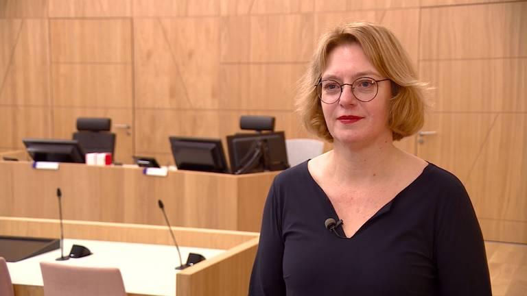 Persrechter Astrid de Weert in de rechtbank in Breda (foto: Imke van de Laar).