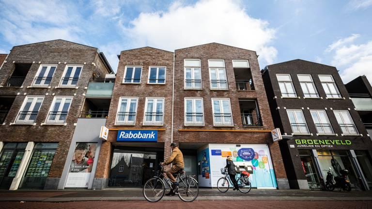 De Rabobank in Oudenbosch waar de kluisjes in 2018 werden leeggeroofd. (Foto: ANP)
