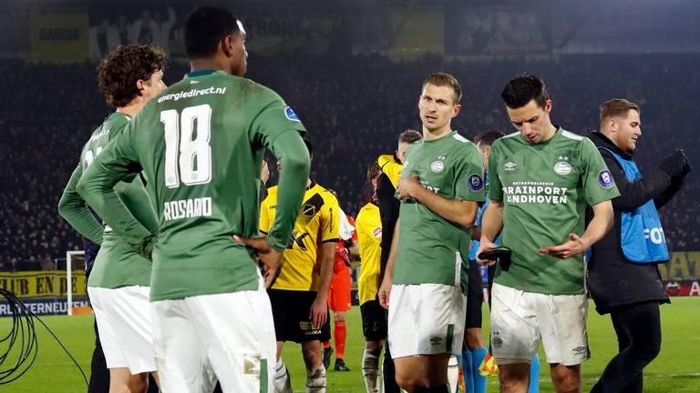 Vertwijfeling na de nieuwe domper voor PSV. I Foto: Hollandse Hoogte