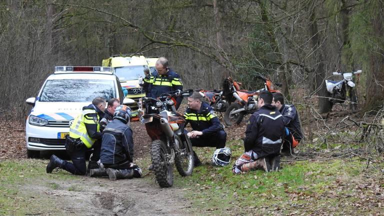 Dodelijk ongeval in de bossen bij Valkenswaard (foto: Jozef Bijnen).