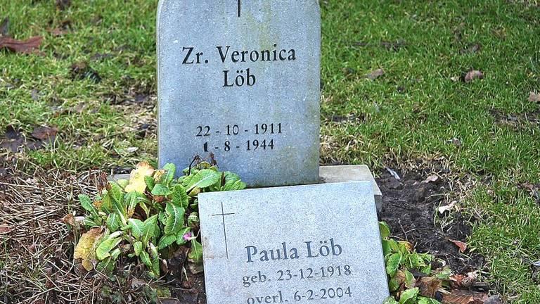 De grafzerken van Veronica  Löb en haar zus Paula (Foto: Brabant Remembers).
