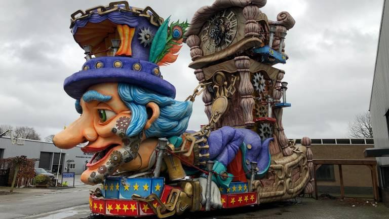 De carnavalsverenigingen in Boemeldonck hadden diverse mooie creaties gemaakt (foto: Tom van den Oetelaar).