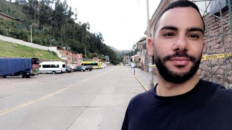Yousef Hashem in de lege straten van Cuzco (foto: Yousef Hashem).