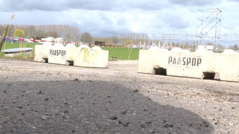 De opbouw van Paaspop ligt stil.