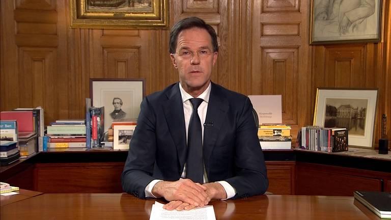 Mark Rutte sprak het volk vorige week nog toe met een speech.