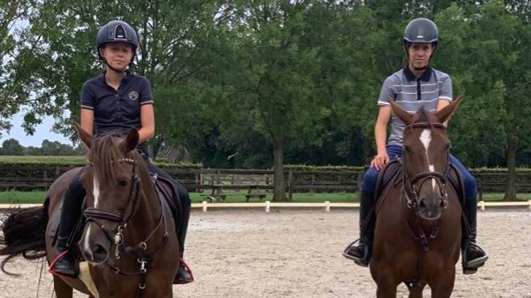 Ava Eden (13) en Yannick (15) van Grunsven.