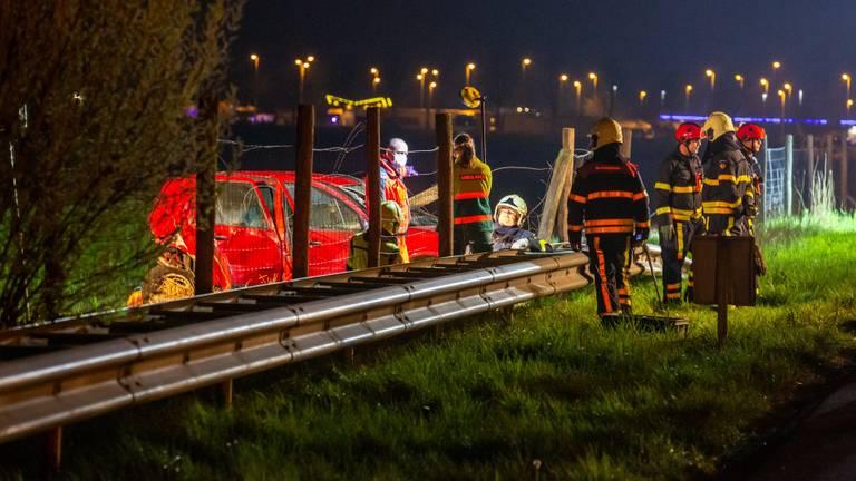 Het ongeluk gebeurde op de A16 bij Zevenbergschen Hoek (foto: Christian Traets)